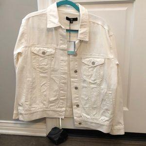 Missguided White Oversized Denim Jacket